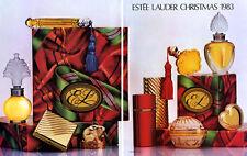 1983 Estee perfume compacts collection xmas Christmas vintage MAGAZINE AD