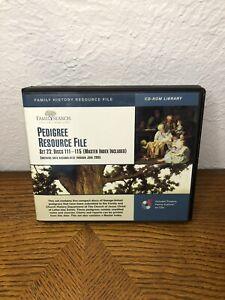 PEDIGREE RESOURCE FILE SET 23 DISCS 111-115 MASTER INDEX FREE SHIPPING