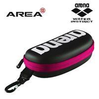 Arena Goggle Case Black-White-Fucshia , Swimming Goggle Case