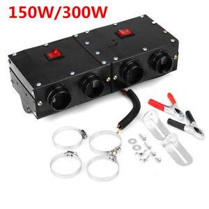 Portable 150W/300W Heating Fan Blower Compact Car Dash Mount Defogger Air Heater
