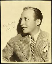 "1950's Bing Crosby Original Sepia Toned Studio Type Photo, Measures 8"" x 10"""