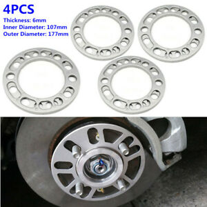 4X 6MM SUV Hub Wheel Spacers Adaptor Shims Plate 5/6 Stud Brake Caliper Aluminum