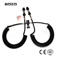 PCP Paintball Double Dual 3.5M coil remote hose line with QD and slide check