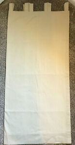 Country Curtains Tab Top Panels Natural Tan Color Various Sizes Light Filtering