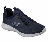 Skechers Navy Shoe Men Comfort Slip On Casual Memory Foam bungee 52642