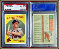 1959 Topps #450 Ed Mathews PSA 6 EX-MT Braves Eddie MLB Baseball HOF