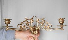 French Antique BRONZE Wall CANDLE SCONCE ART NOUVEAU signed PINET