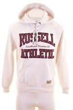 RUSSELL ATHLETIC Mens Hoodie Jumper Medium White Cotton  DU01