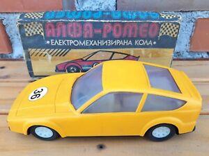 Vtg Russian Soviet USSR Plastic Rally Racing Alfa Romeo Friction Car Toy Working