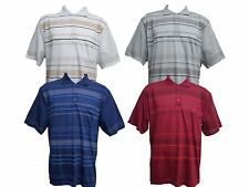 Men's Print Striped Polo T-Shirt Plus Sizes Pique Casual Loose Fit 3XL to 5XL