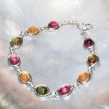 Turmalin Armband, 925er Silber, Edelstein Armband (327), Edelsteinschmuck
