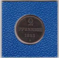 2 Pfennig Hannover 1853 B Georg V