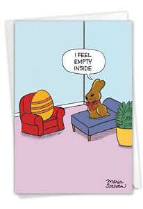 1 Funny Easter Card with Envelope - Empty Bunny Easter C9221EAG