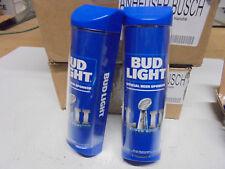 NEW 2 Pack Bud Light Blue Superbowl LII 52 Promo Frdige Cooler Door Handle Pulls