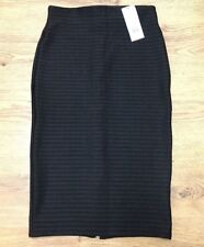 Miss Selfridge Black Pencil Skirt Ribbed Material Size 8 UK BNWT RRP £35