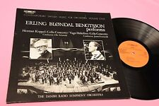 ERLING BLONDAL LP PERFORMS ORIG GERMANY 1977 NM CONTEMPORARY DANISH MUSIC