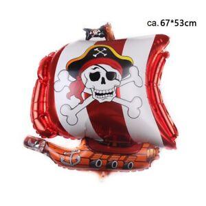 Luftballon Folienballon Seeräuber Pirat Schiff Kinder Party Geburtstag Fasching