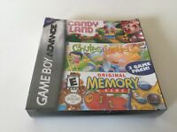 Candy Land/Chutes and Ladders/Memory (Nintendo Game Boy Advance, 2005) NEW