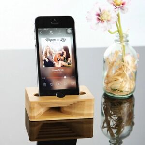 Wooden Phone Sound Booster Smartphone Stand Passive Loudspeaker Speaker Holder