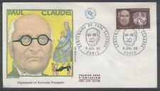 FRANCE FDC - 1553 3 PAUL CLAUDEL - PARIS 6 Juillet 1968 - LUXE