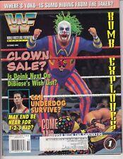 WWF WWE WORLD WRESTLING FEDERATION MAGAZINE OCTOBER 1994 BRET HART JERRY LAWLER