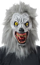 Halloween Costume SCARY ALBINO WEREWOLF WITH FUR LATEX DELUXE MASK Haunted House