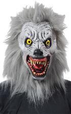 Halloween LifeSize Costume ALBINO WEREWOLF LATEX DELUXE MASK Haunted House NEW