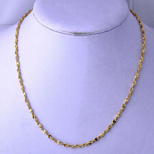 """18.9"""" long necklace Womens/Mens Yellow Gold Filled Fashion Jewelry Necklace"""