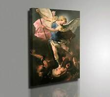 🎨 Luca Giordano San Michele Arcangelo Quadro Stampa su Tela Vernice Pennellate