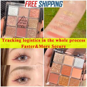 9 Colors Makeup Fashion Eyeshadow Palette Matte Eye Shadow Palette Glitter US