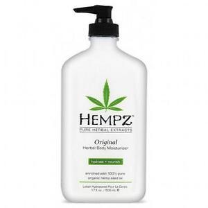 Hempz Original Salon Herbal Hydrating Body Moisturiser Tanning Lotion - 500ml