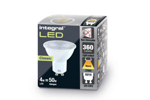 Pack of 10 - LED GU10 4.2W (50W) 2.7-6.5K 360lm non-Dimmable - Integral LED