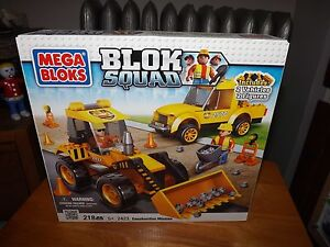MEGA BLOKS, BLOK SQUAD, CONSTRUCTION MISSION, KIT #2423, NIB, 2011