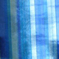 1960s 1970s Blue Mylar Mid Century Vintage Original Striped Wallpaper - amazing!