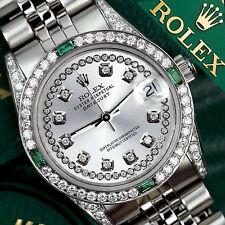 Mujer Rolex Datejust 36mm Acero Inoxidable Plata Cuerda EMERALD