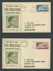 Ireland FDC 1937 The New Constitution C11 & C12
