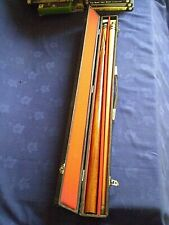 UNBRANDED TWO PIECE POOL / SNOOKER CUE IN HARD CASE