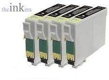 4 X COMPATIBLE BLACK INK CARTRIDGES FOR EPSON SX235W SX435W SX445W