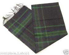 Tommy Hilfiger Men's Green & Blue Plaid Wool/Acrylic Scarf