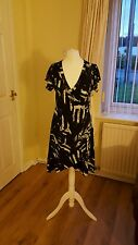 "Ladies ""Stella Morgan"" Black and White patterned Summer Dress (Size M)"