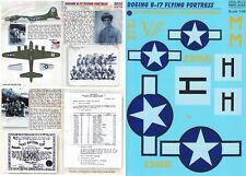 PRINT SCALE DECALS 1/48 B-17F Flying Fortress 562nd BS 388th BG 8th AF (USAAF)