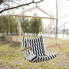 Deluxe Hammock Rope Chair Patio Porch Yard Tree Hanging Air Swing Outdoor New