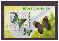 Cambodia, Butterflies/Brasiliana '89 Block 170, 1989 Used