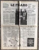N104 La Une Du Journal Le Figaro 2 Janvier 1978