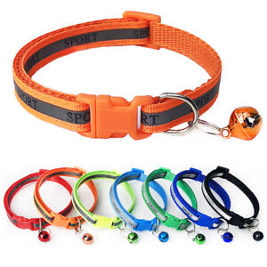 For Dog Cat Pet Reflective Applique Collar Adjustable Neck Belt Chain Rope Strap