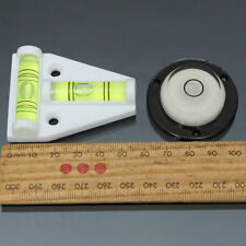 2 Way T & Circle Spirit Level Tool For Trailer Caravan Motorhome Camper Table