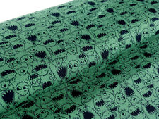 Jersey Öko tex Stoff Monster grün Kinderstoff Gespenst Meterware 24166