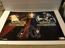 Pokemon Sun And Moon Ultra Sun 24x18 Double Sided Gamestop Exclusive Poster!