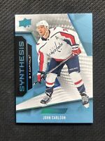 2019-20 UPPER DECK ENGRAINED JOHN CARLSON SYNTHESIS CARBON FIBRE BLUE #ed 27/50