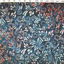 "C1228-03B  KAUFMAN BATIK Print "" Versailles ""Evening"" by the Yard"